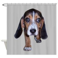 Beagle Puppy Walking Shower Curtain