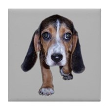 Beagle Puppy Walking Tile Coaster