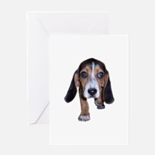 Beagle Puppy Walking Greeting Card