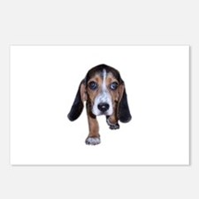 Beagle Puppy Walking Postcards (Package of 8)