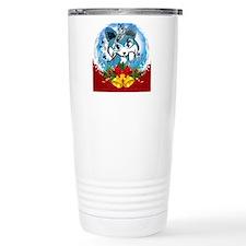Christmas Corgi Cartoon Travel Mug