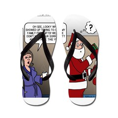 Santa Disrespected Flip Flops