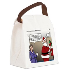 Santa Disrespected Canvas Lunch Bag