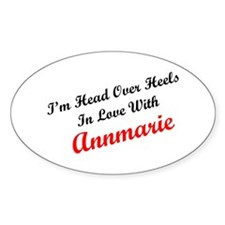In Love with Annmarie Oval Decal