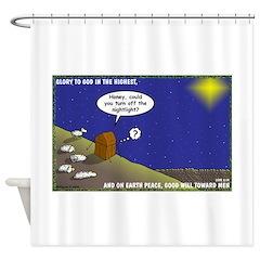 Silent Night Light Shower Curtain