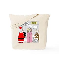 Santa Shopping Tote Bag