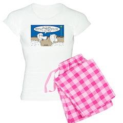 Sheep at Christmas Women's Light Pajamas