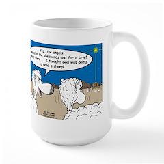 Sheep at Christmas Mug