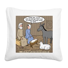 Manger Housekeeping Square Canvas Pillow