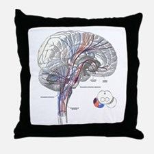 Pathways of the Brain Throw Pillow