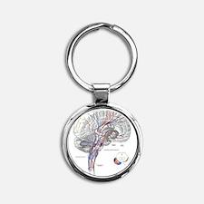 Pathways of the Brain Round Keychain
