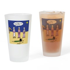 Frosty and the Wise Men Drinking Glass