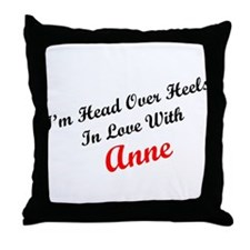 In Love with Anne Throw Pillow
