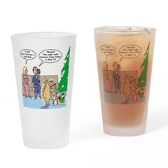 Boa for Christmas Drinking Glass