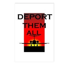 DEPORT THEM ALL Postcards (Package of 8)