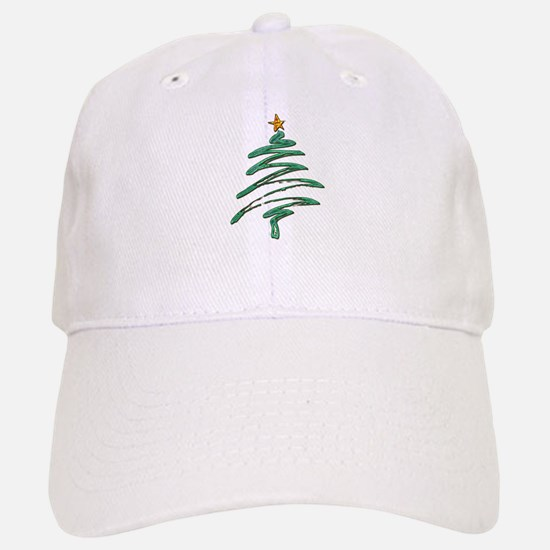 Swished Xmas Tree Logo copy Baseball Cap
