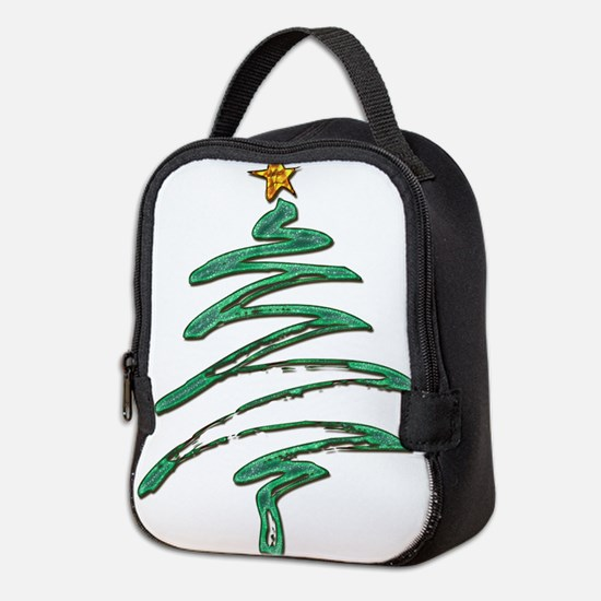 Swished Xmas Tree Logo copy Neoprene Lunch Bag