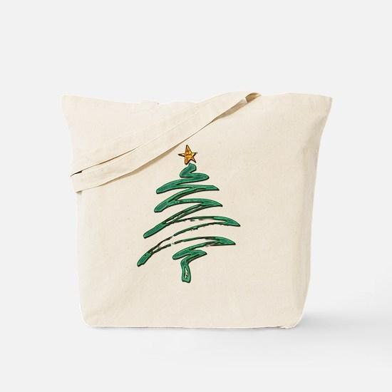 Swished Xmas Tree Logo copy Tote Bag