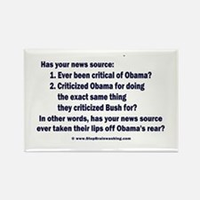 Has your news source Rectangle Magnet (100 pack)
