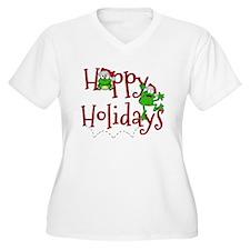 Hoppy Holidays - Frogs Plus Size T-Shirt