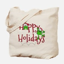 Hoppy Holidays - Frogs Tote Bag