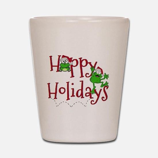 Hoppy Holidays - Frogs Shot Glass