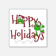 Hoppy Holidays - Frogs Sticker