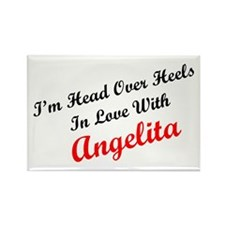 In Love with Angelita Rectangle Magnet