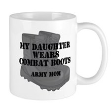 Army Mom Daughter Combat Boots Mugs