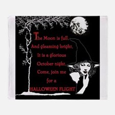 Halloween Calendar images Cover.png Throw Blanket