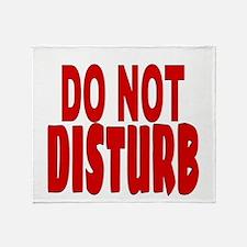 DO NOT DISTURB Throw Blanket