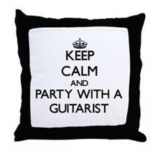 Keep Calm and Party With a Guitarist Throw Pillow