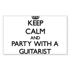 Keep Calm and Party With a Guitarist Decal
