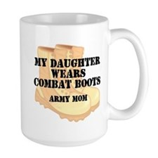 Army Mom Daughter Desert Combat Boots Mugs