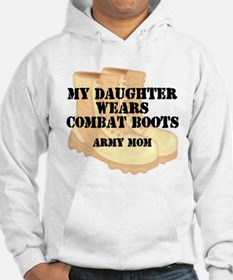 Army Mom Daughter Desert Combat Boots Hoodie