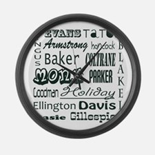 jazz Large Wall Clock