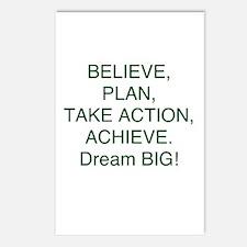Believe + Plan + Action = Achieve Postcards (Packa