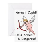 Arrest Cupid Greeting Cards (Pk of 10)