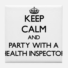 Keep Calm and Party With a Health Inspector Tile C