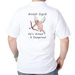 Arrest Cupid Golf Shirt