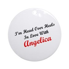 In Love with Angelica Ornament (Round)