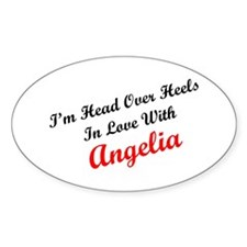 In Love with Angelia Oval Decal