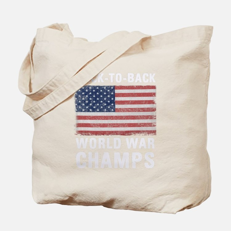 Back to Back World War Champs Tote Bag