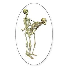 SkeletonFuck Oval Decal