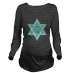 Vintage Star of David Long Sleeve Maternity T-Shir