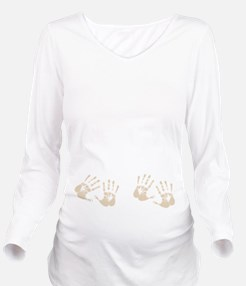 Four Hands Long Sleeve Maternity T-Shirt