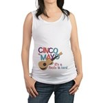 Cinco de Mayo Fiesta Maternity Tank Top
