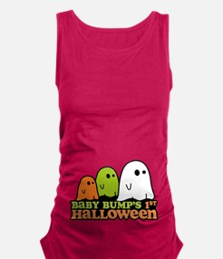 Baby Bumps 1st Halloween Maternity Tank Top
