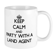 Keep Calm and Party With a Land Agent Mugs