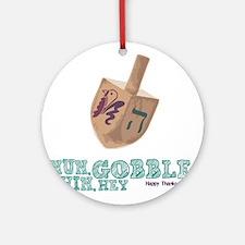 Gimmel, Gobble... Same Thing Ornament (Round)